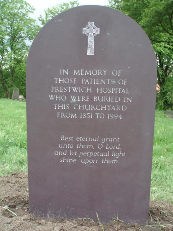 Memorial in St Mary's Church, Prestwich