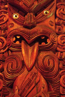 Maori wood carving art